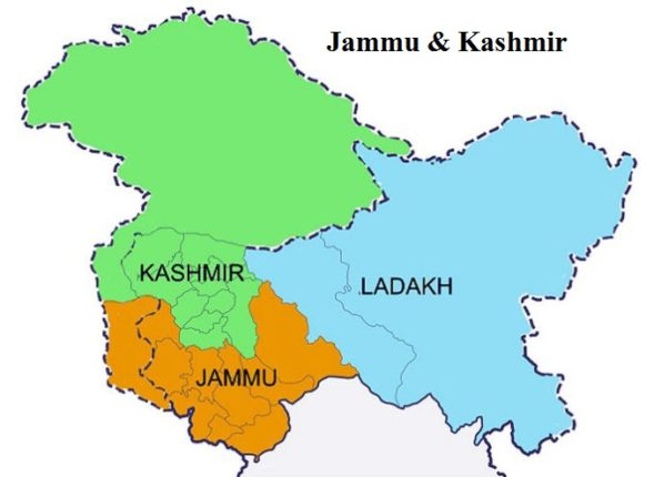 Division of Jammu and Kashmir into two states; All-party meeting with the Prime Minister