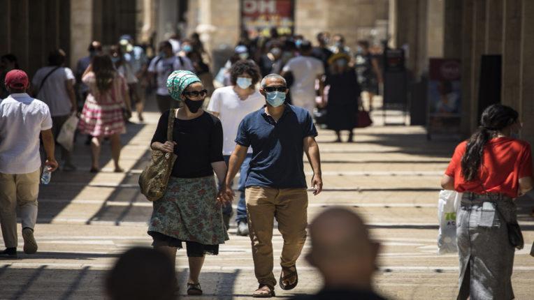 .Mask Wearing People in israel