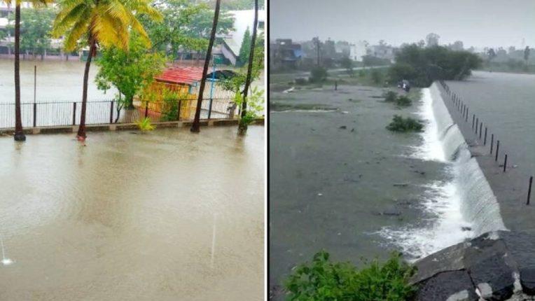 कोल्हापुरातील धरणक्षेत्रात जोरदार पाऊस, पंचगंगा नदीची इशारा पातळीकडे वाटचाल