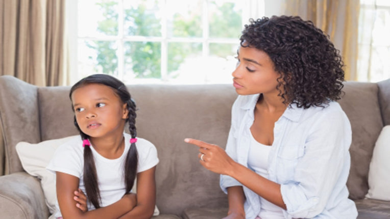 parent scolding children