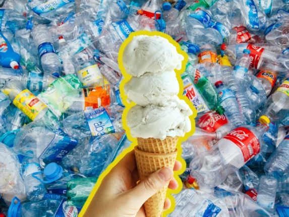 Vanilla ice cream will be made from plastic waste