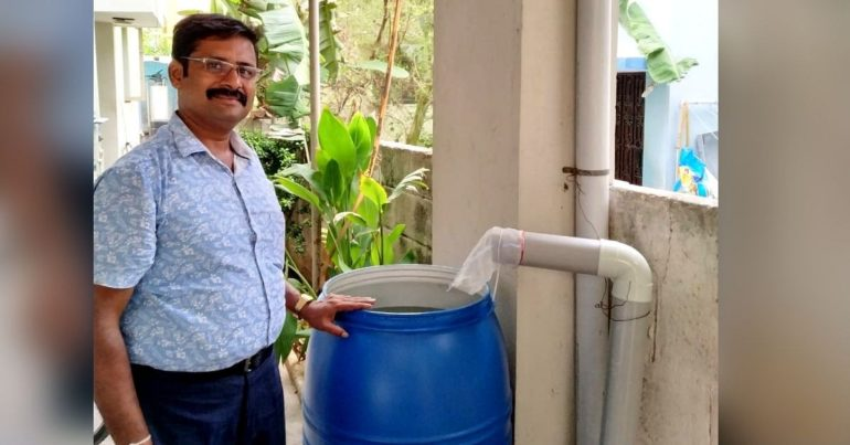 225 liters of water stored in just 10 minutes; Unique 'Rainwater Harvesting'