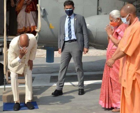 President Ramnath Kovind Greetings to Mayabhumi bowing