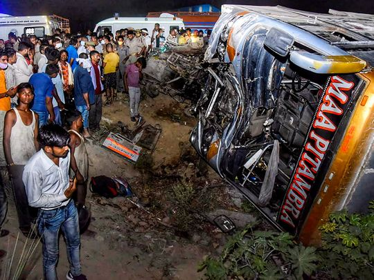 Tempo and bus beat; 17 people died on the spot