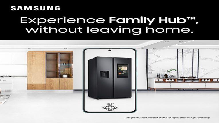 सॅमसंगच्या प्रमुख रेफ्रिजरेटर व टीव्हीसाठी ऑगमेण्टेड रिॲलिटी डेमोसह घरातूनच वास्तववादी व्हर्च्युअल शॉपिंगचा अनुभव घ्या
