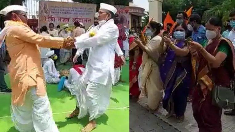 पंढरपुरचे विठ्ठल मंदिर वारीसाठी उघडे करा; पालख्यांना मर्यादित संख्येने परवानगी द्यावी- विश्व हिंदू परिषदेचे आंदोलन