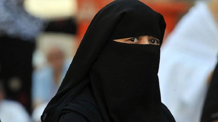 burkha wearing girl