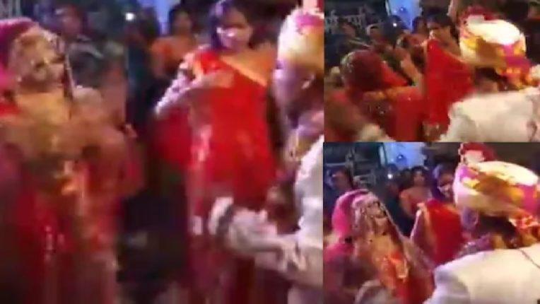 लग्नमंडपातच नवरी-नवरदेवाचा असा अवतार पाहून पाहुणेही झाले अवाक; जबरदस्त VIDEO होतोय व्हायरल