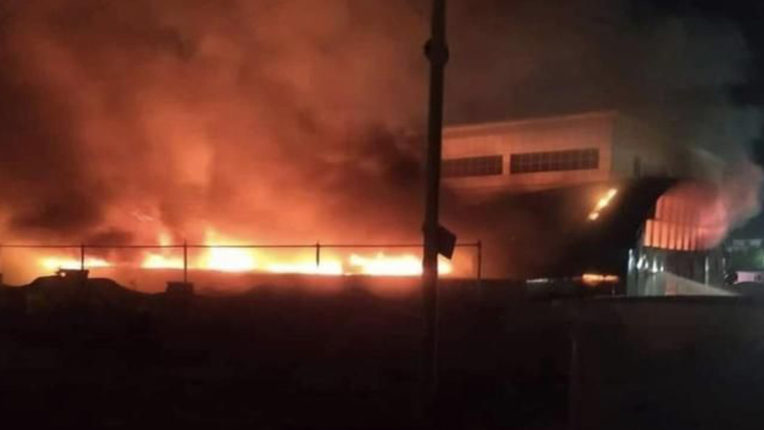 fire in nasirya hospital
