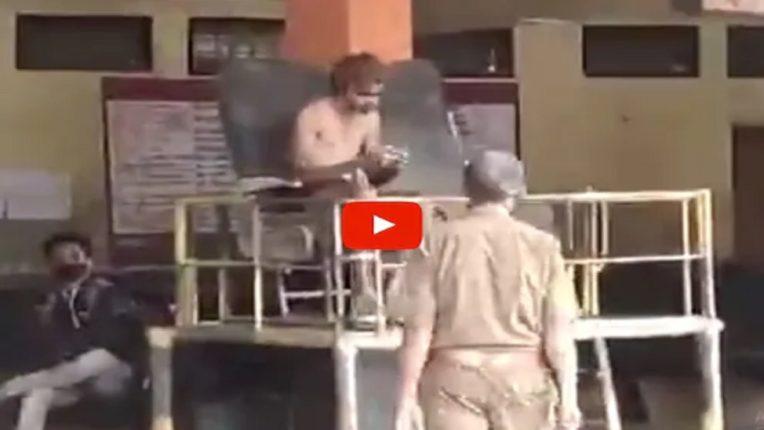 VIDEO : मनोरुग्णाचा बसस्थानकात अर्धनग्नावस्थेत धिंगाणा, महिला प्रवाशांची झाली दैना