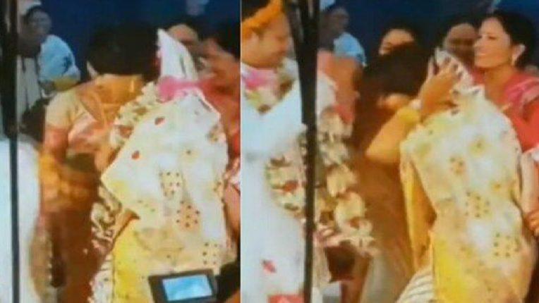 भरमंडपात नवरदेवानं नवरीसोबत केलेलं ते कृत्य पाहून पाहुणेही अवाक; VIDEO तुफान VIRAL