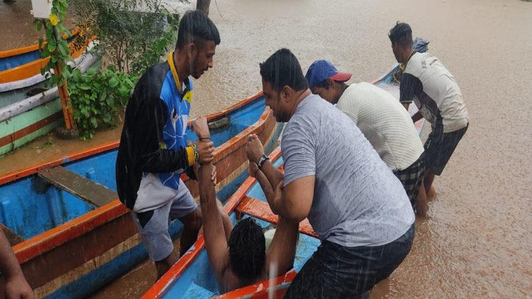 man saved in flood