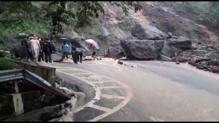 The Neral-Matheran ghat road collapsed