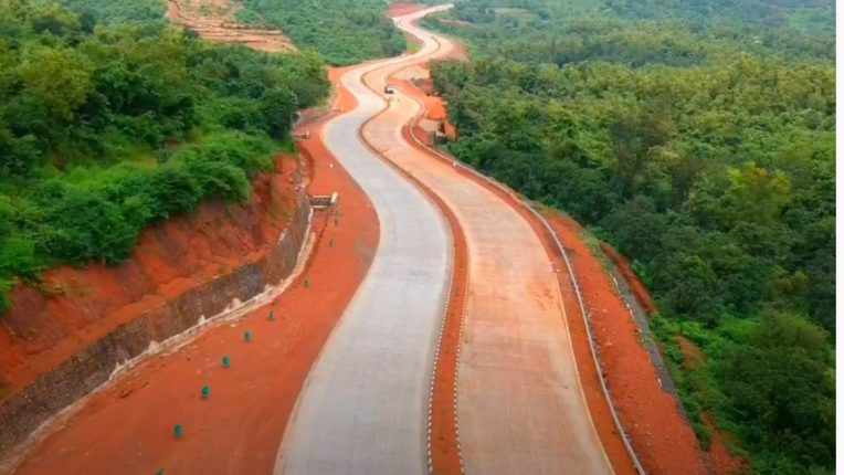 Mumbai-Goa highway quadrangle 206 km from Indapur to Sindhudurg completed; Affidavit of the construction department in the court that 62% of the work of the highway has been completed