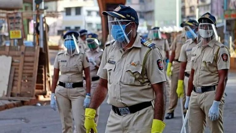 Police alert on the backdrop of a rainy convention 'Operation Allout' in Mumbai