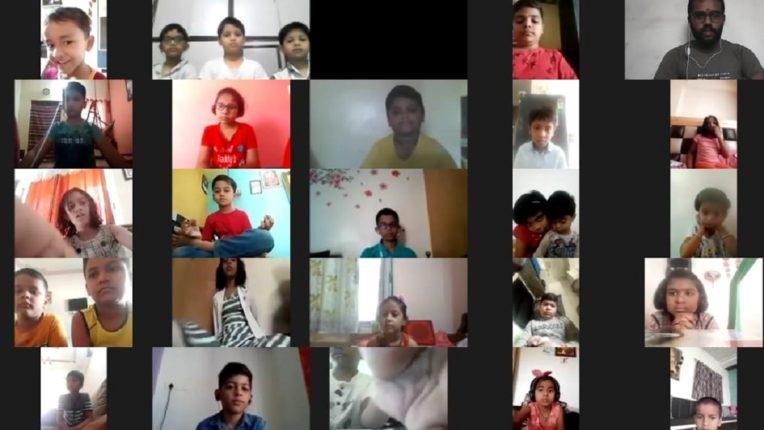 कोरोना काळात मुलांसाठी ऑनलाइन मोफत संस्कार वर्गाला चांगला प्रतिसाद…