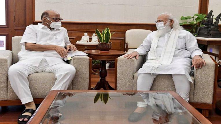 शरद पवारांनी घेतली पंतप्रधान नरेंद्र मोदींची भेट, तर्क-वितर्कांना उधाण