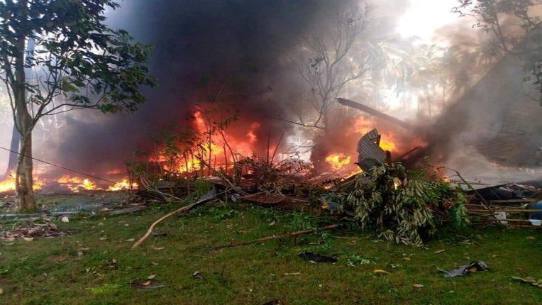फिलिपीन्समध्ये मोठी दुर्घटना; ८५ जण प्रवास करणारं सैन्याचं विमान कोसळलं