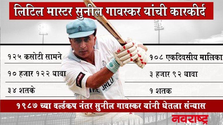 क्रिकेटचे लिटिल मास्टर सुनील गावस्कर यांचं आज ७२ व्या वर्षात पदार्पण, जाणून घ्या त्यांची कारकीर्द…