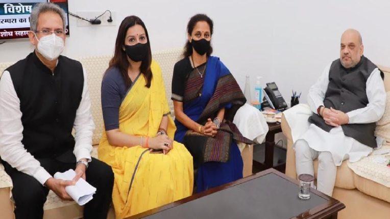 महाराष्ट्रात मुसळधार पावसाचा हाहाकार, खासदार सुप्रिया सुळेंनी घेतली केंद्रीय गृहमंत्री अमित शहांची भेट