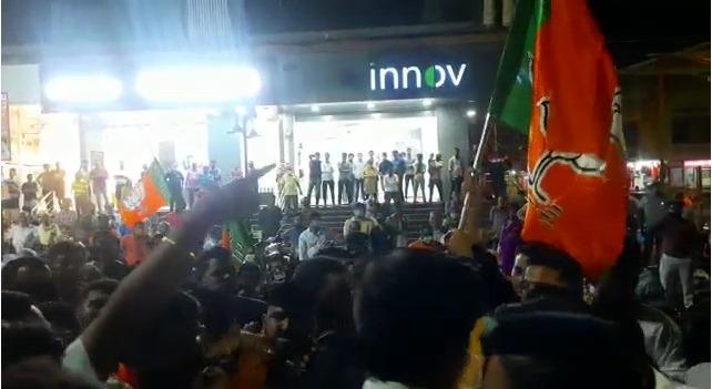 जन आशिर्वादयात्रेत भाजपच्याच कार्यकर्त्यांची नारायण राणें विरोधात घोषणाबाजी