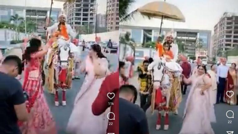 दीराच्या लग्नाच्या मिरवणुकीत वहिनीने केलाय ढासू डान्स, सोशल मीडियावर व्हिडिओ घालतोय धुमाकूळ
