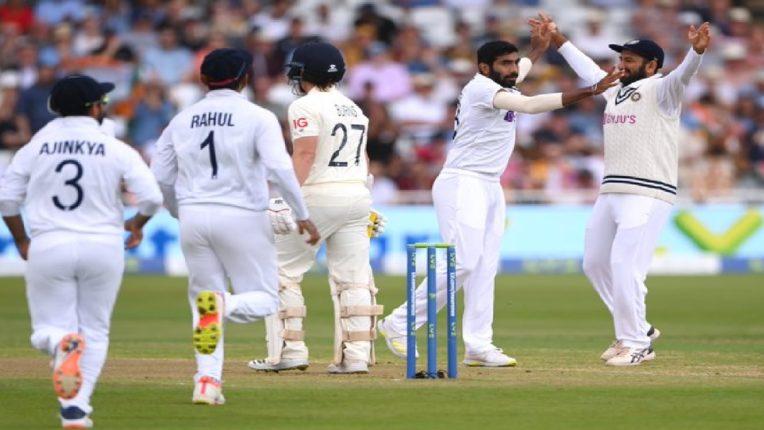 टीम इंडियाची धमाकेदार सुरूवात, इंग्लंडला पहिला झटका ; आलेल्या पाहुण्यांना माघारी धाडलं
