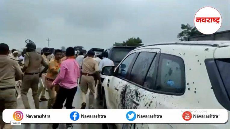 ... so ink and stones were thrown at Kirit Somaiya's vehicles; Shiv Sena MP Bhavana Gawli's factory accused of Rs 100 crore scam