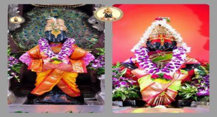 श्रीकृष्णजन्माष्ठमी निमित्त श्री क्षेत्र पंढरपूर येथील विठ्ठल-रुक्मिणी मंदिरात आर्कषक सुंदर फुलांची सजावट