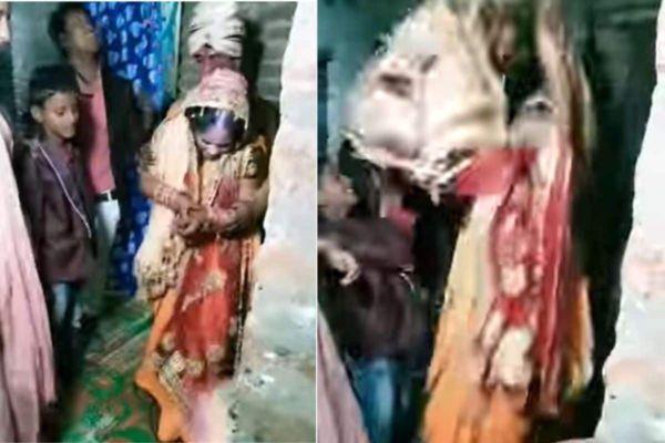 Viral Video : अग्ग् बाई ही नवरी अशी कशी?  लग्नात अचानक उड्या मारू लागली नवरी ; नवरदेवही झाला हैराण