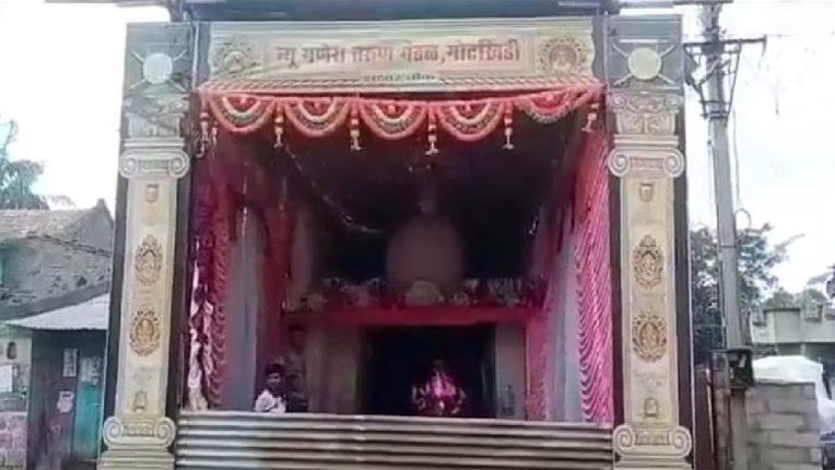 हिंदू मुस्लिम एक्याचे प्रतीक – गोटखिंडी येथील मस्जिद मधील गणपतीची चाळीस वर्षांपासूनची परंपरा कायम
