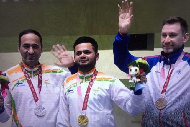 Tokyo Paralympic 2020 : 50 मीटर एअर पिस्टलमध्ये भारताचा डबल धमाका, सुवर्णपदकासह रौप्यपदक देखील मिळवलं