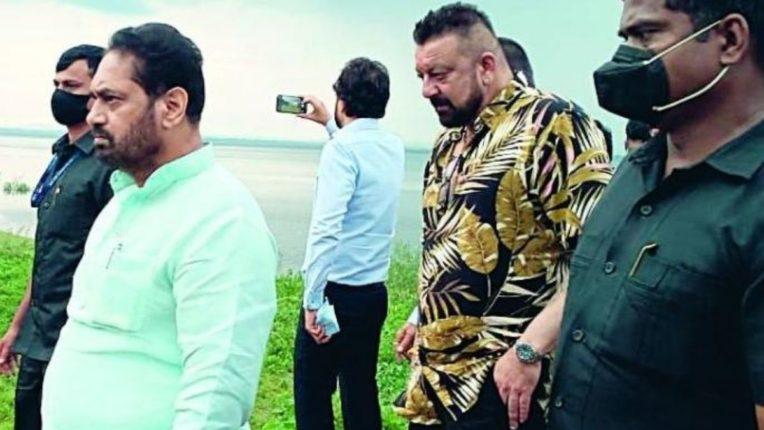 संजय दत्त आणि नितीन राऊत यांची रामटेक-खिंडसी परिसराला भेट; विदर्भात चित्रपट नगरी उभारण्याची तयारी