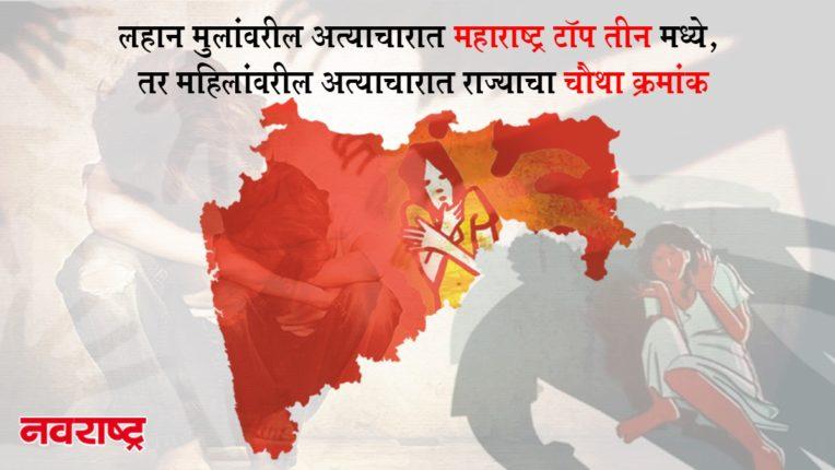 लहान मुलांवरील अत्याचारात महाराष्ट्र टॉप तीन मध्ये, तर महिलांवरील अत्याचारात राज्याचा चौथा क्रमांक, पण…