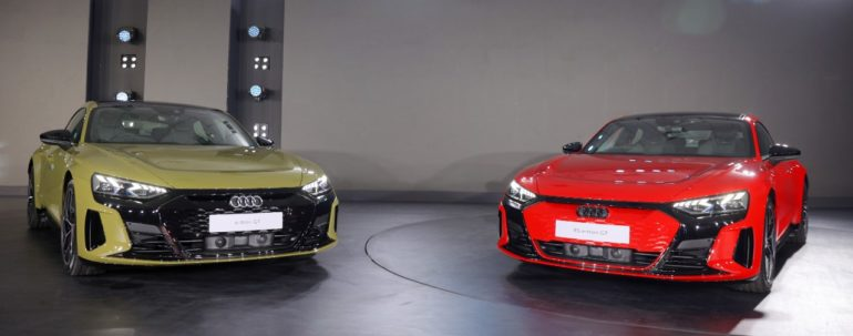 PHOTO : ऑडी इंडियाने भारतातील पहिली इलेक्ट्रिक सुपरकार-Audi ई-ट्रॉन जीटी आणि RS E – Tron GT सादर केली