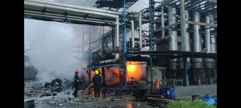 Body found under pile after 12 hours; Massive explosion at a textile company in Boisar