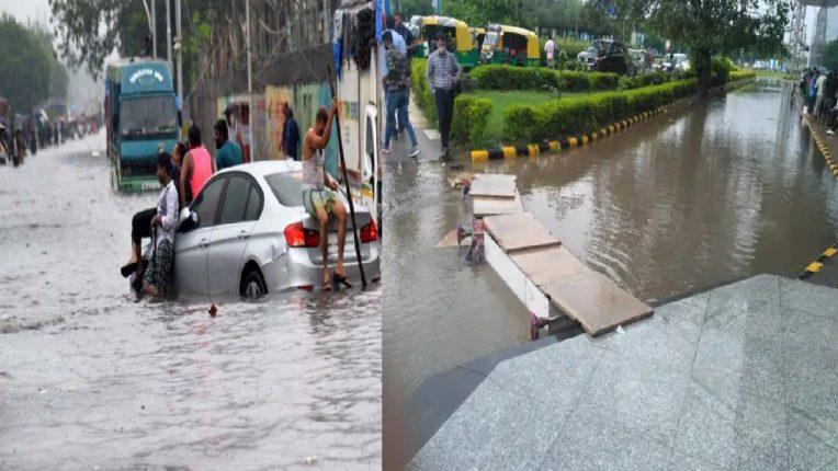 दिल्लीमध्ये पावसाचा धो धो सुरूच, विमानतळासह अनेक सखाेल भाग जलमय ; 46 वर्षांत पहिल्यांदाच इतक्या पावसाची नोंद