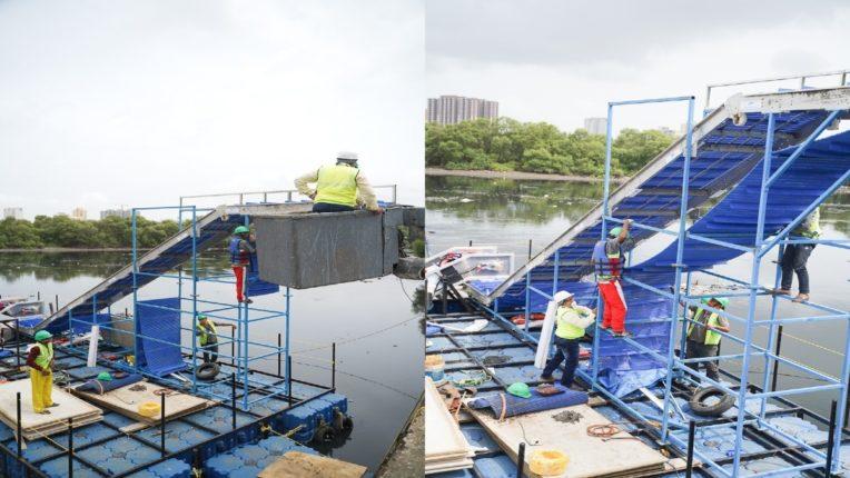 मिठी नदीवर तरंगणाऱ्या कचऱ्याची लागणार विल्हेवाट; अद्ययावत तंत्रज्ञानाने सुसज्ज कचरा संकलन यंत्र कार्यरत