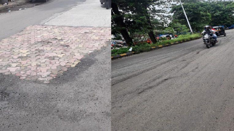 रस्ते दुरुस्तीच्या अधिकृत आर्थिक गैरप्रकाराला आळा कधी? नवी मुंबईतील रस्ते, खड्डे व ओबडधोबड पॅच मारलेलेच