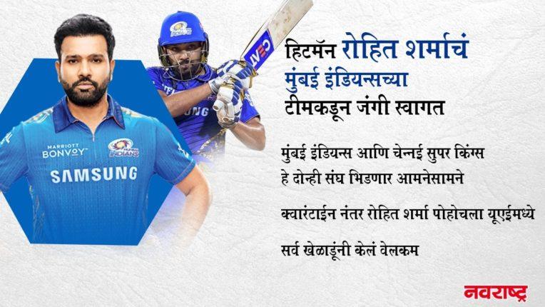 Mumbai Indians मध्ये हिटमॅन रोहित शर्माने केलं कमबॅक, सर्व खेळाडूंनी केलं जंगी स्वागत