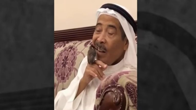 Sheikh uses bird as toothpick, video goes viral