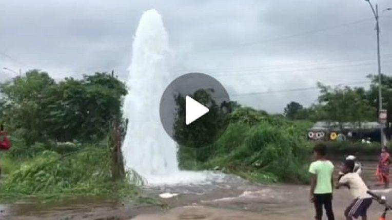 डोंबिवली-बदलापूर रोडवरची पाईपलाईन फुटली, लाखो लिटर पाणी वाया