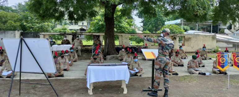 कमांड, शस्त्र प्रशिक्षणासह फिटिंगचा थरार अनुभव; एनसीसीच्या पाच दिवसीय शिबिरास प्रारंभ