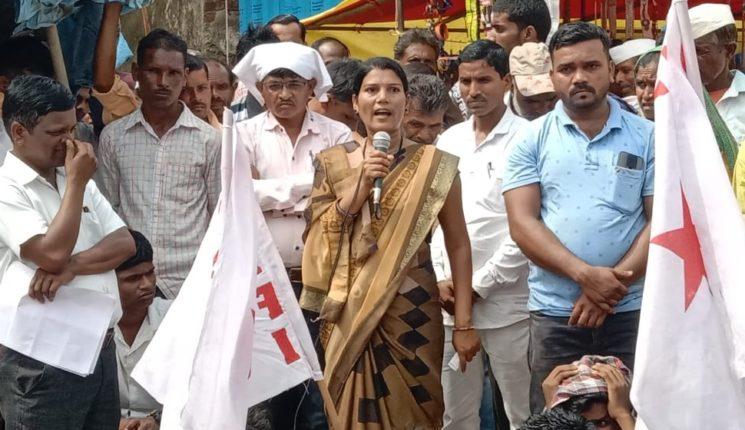 डीवायएफआयचे आंदोलन : बॅंक ऑफ बडाेदाच्या कारभाराचा निषेध