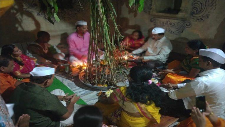 Navratra celebration at Yamai temple at Kanersar in Khed